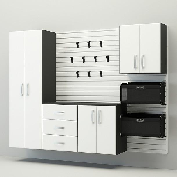 5pc Complete Storage Cabinet Set - White