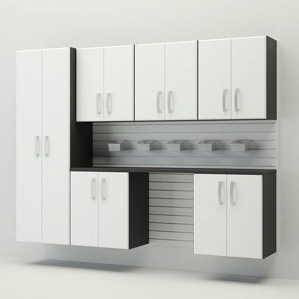 7pc Cabinet Storage Set - White