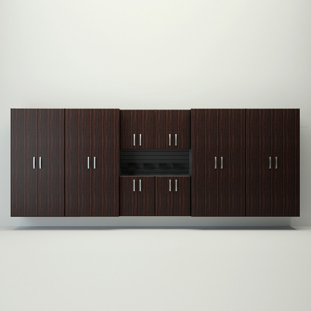 8pc Jumbo Cabinet Set - Black/Espresso