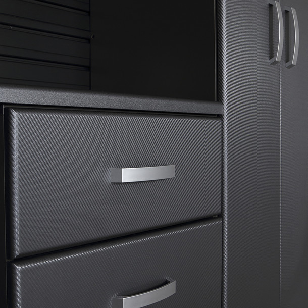 13pc Jumbo Cabinet Workstation - Black/Graphite Carbon