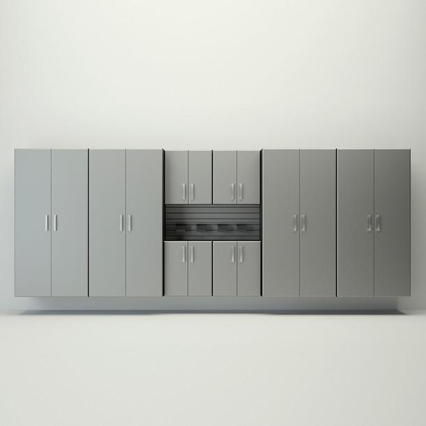 10pc Jumbo Deluxe Cabinet Set - Silver