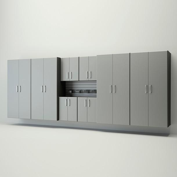 8pc Jumbo Cabinet Set - Silver