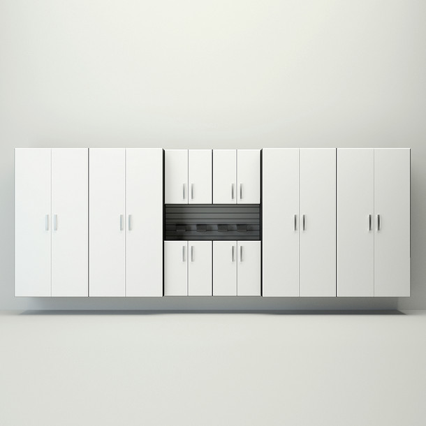 8pc Jumbo Cabinet Set - Silver/White