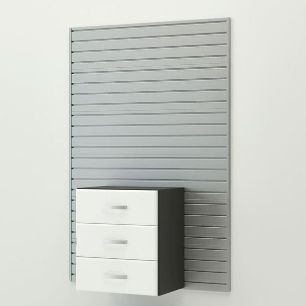 15pc Jumbo Cabinet Drawer Workstation - Silver/White