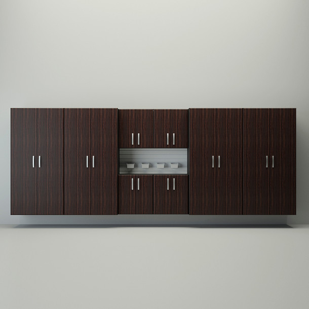8pc Jumbo Cabinet Set - Espresso