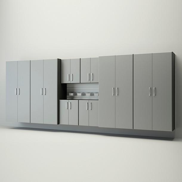 8pc Jumbo Cabinet Set - White/Silver