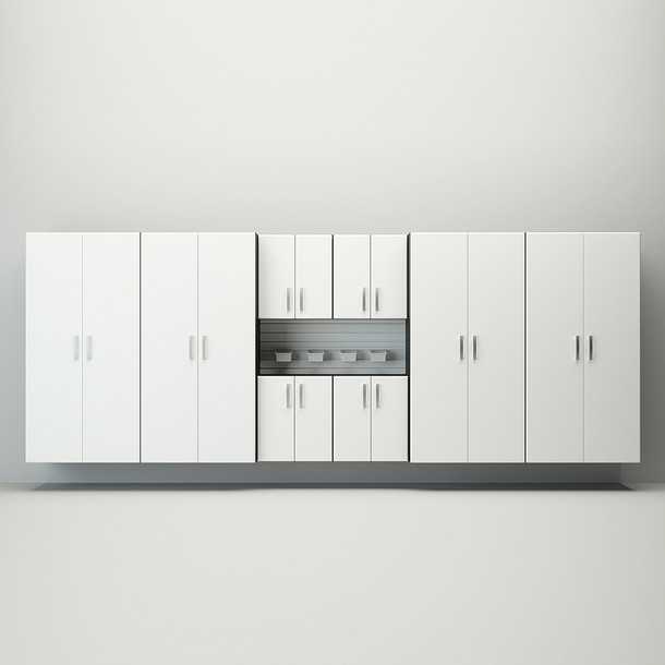 8pc Jumbo Cabinet Set - White
