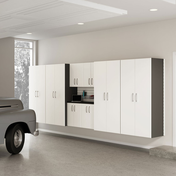8pc Jumbo Cabinet Set - White