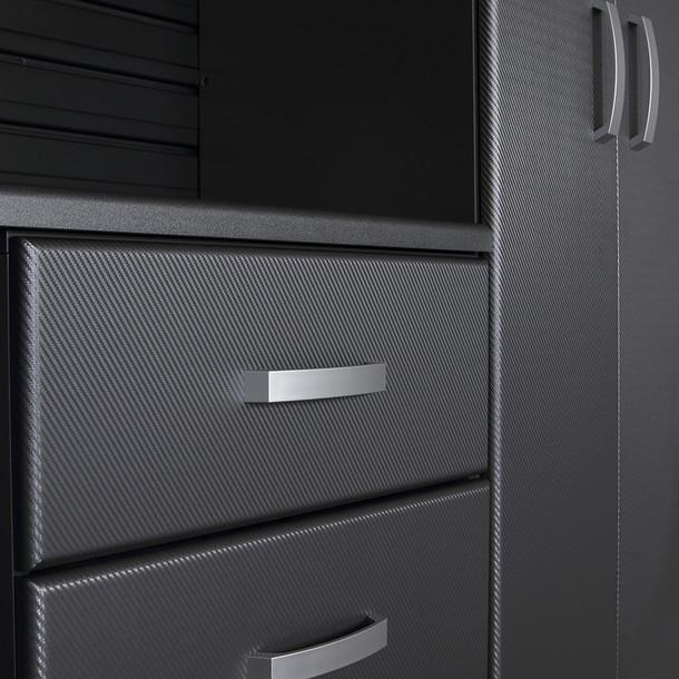 13pc Jumbo Cabinet Workstation - White/Graphite Carbon
