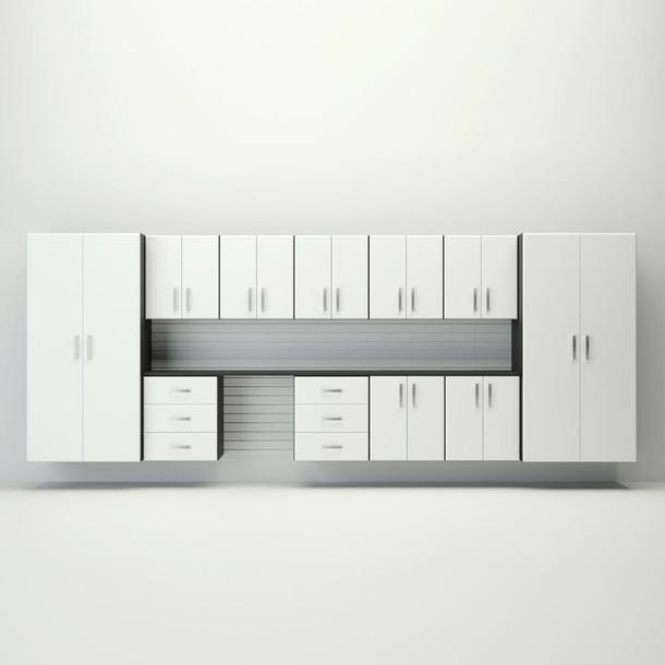 15pc Jumbo Cabinet Drawer Workstation - White