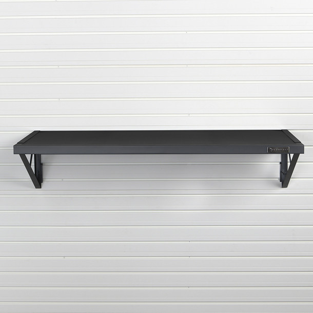 "Flow Wall 46.5"" Heavy Duty Metal Shelf - Black"