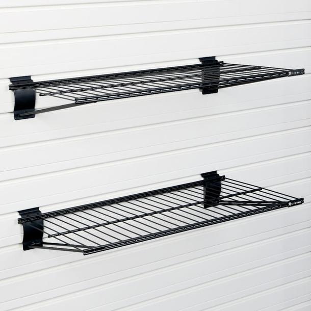 Metal Bracket Shelf 2pk - Black