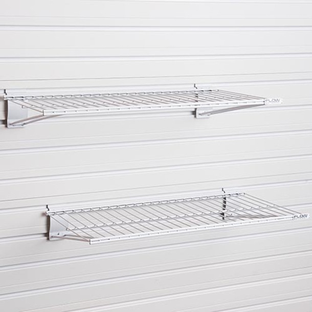 Metal Bracket Shelf 2pk - White