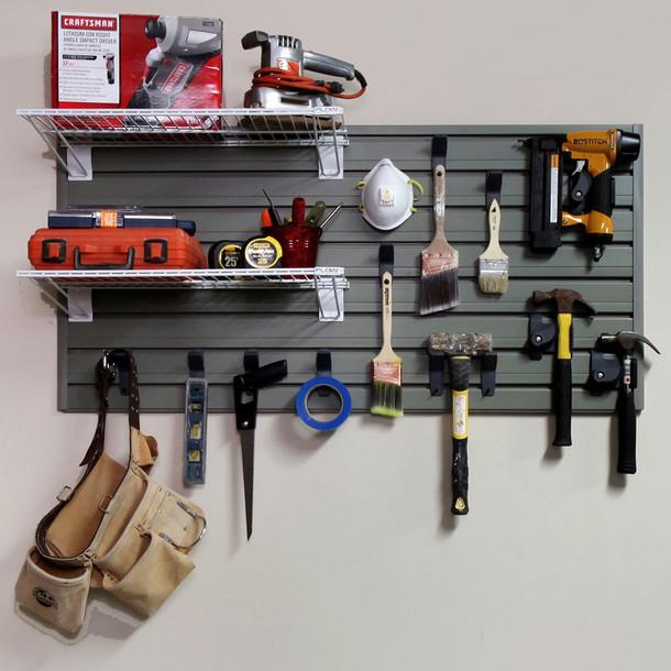 Metal Bracket Shelf 2pk - White