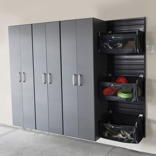 Tall Cabinet Graphite Carbon By Flow Wall