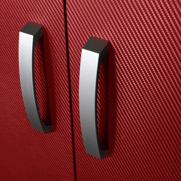 Wall Cabinet - Red Carbon