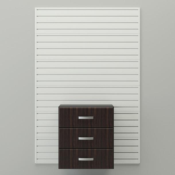 Complete 3 Drawer Cabinet - Espresso