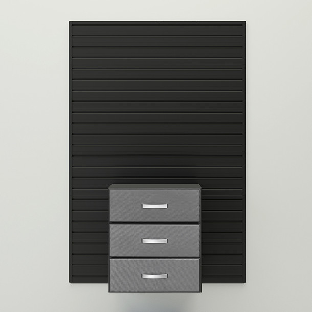 Flow Wall® Complete 3 Drawer Cabinet - Graphite Carbon Fiber