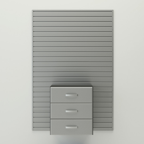 Drawer Cabinet - Silver