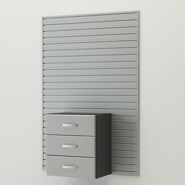 Complete 3 Drawer Cabinet - Silver