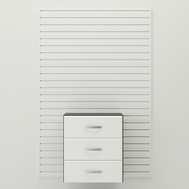 Complete 3 Drawer Cabinet - White