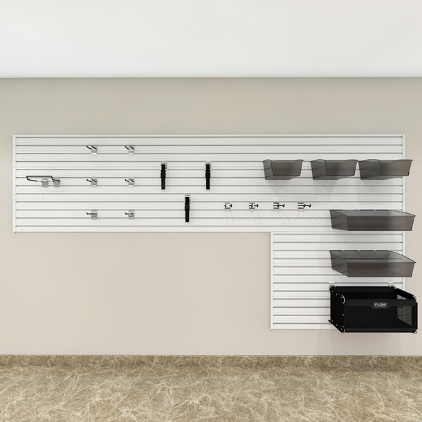 Garage and Hardware Storage System - White