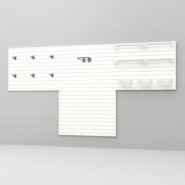 16 Pc Garage Wall Storage Shelf Set - White