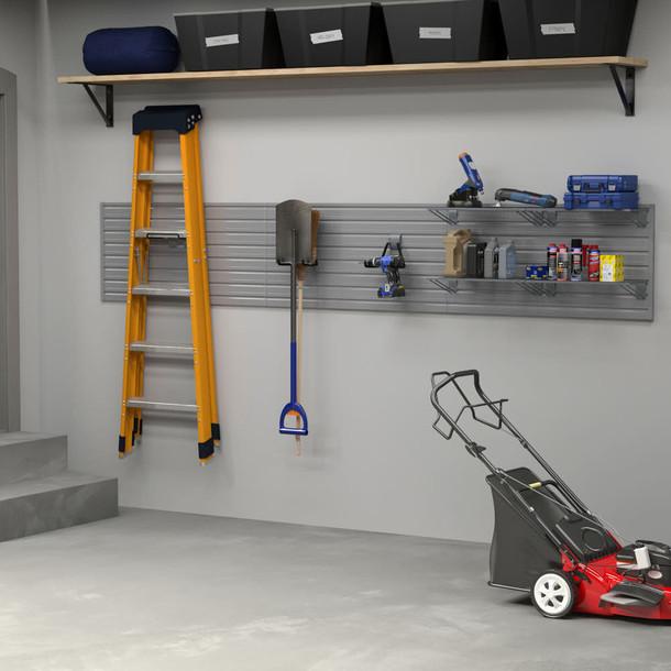 17 Pc Linear Wall Shelf Storage Set - Silver