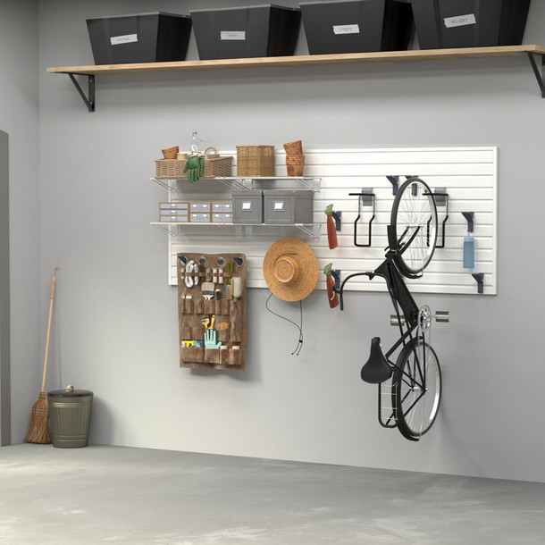 16 Pc Bike and Shelf Basic Storage Set - White