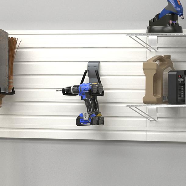 17 Pc Linear Wall Shelf Storage Set - White