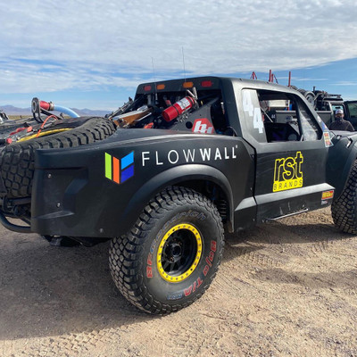 Flow Wall Trophy Truck in the Baja 1000th Anniversary