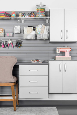 Clean Up Your Craft Room With the Help of Craft Cabinets and Handy Ribbon Organizers